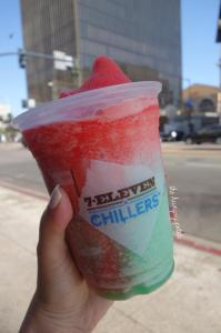1 - Food: Slurpee watermelon and cherry